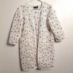 Jeanne beker cover-up mesh jacket black/white M
